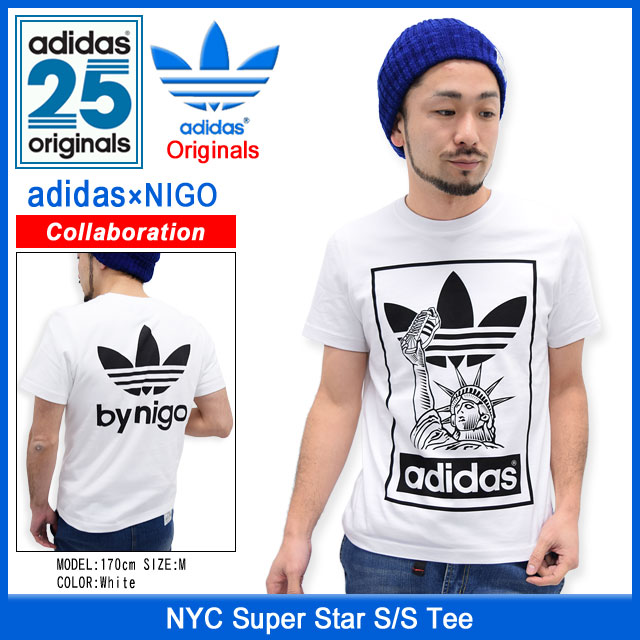 super popular 13493 b7acb Adidas originals x NIGO adidas Originals by NIGO NYC Super Star T shirt  short sleeve collaboration originals (ADIDAS Adidas NYC Super Star S/S Tee  ...