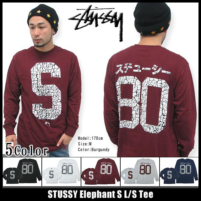 Stussy STUSSY 大象 S T 衬衫长袖 (stussy tee t 恤衫 t 恤上衣很长很长茶罗恩 t 对于男人来说,男性 1993349 Stussy stussy Stussy Steacy) 冰提起冰原