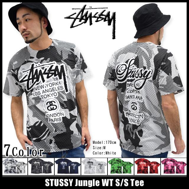 Stussy STUSSY Jungle WT T shirt short sleeve (stussy tee tee shirts T-SHIRTS tops mens, mens 1903507 Stussy stussy Stussy Steacy) ice filed icefield