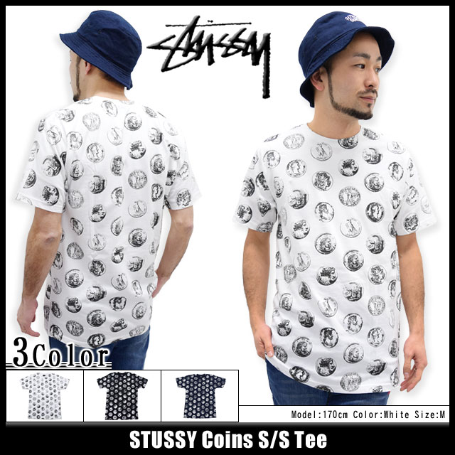 Stussy STUSSY Coins T shirt short sleeve (stussy tee tee shirts T-SHIRTS tops mens, mens 1903497 Stussy stussy Stussy Steacy) ice filed icefield