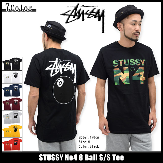 Stussy STUSSY T shirt short sleeve mens No4 8ball (stussy tee tee shirts T-SHIRTS  shirt tops mens 600f656d9a04