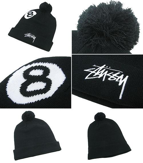 8cedac3c41e Stussy STUSSY Beanie 8 Ball Pom Pom Beanie (stussy Stussy beanie knit hats  for men-men hats