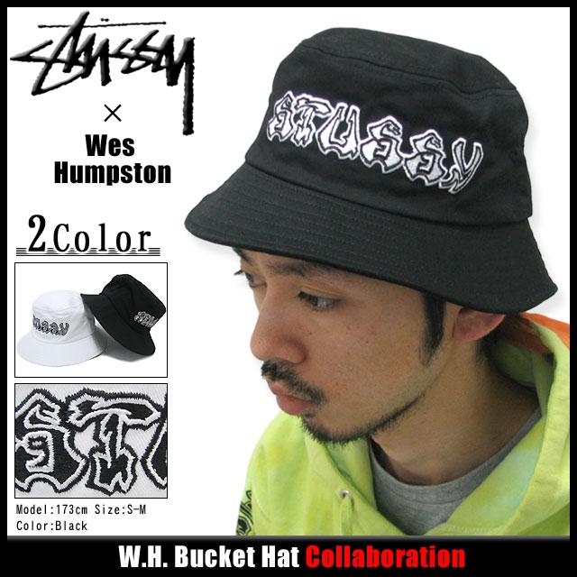 16af68a0085 Stussy STUSSY×Wes Humpston W. H. Bucket Hat collaboration (stussy hat  Stussy HAT Hat Wes Hampsten W names men s and men s hats bousi 332032 Stussy  stussy ...