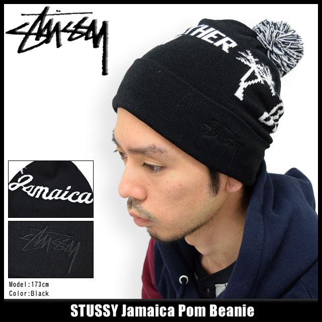 Stussy STUSSY Beanie Jamaica Pom Beanie (stussy Stussy beanie knit hats for  men-men hats 91e06270d60