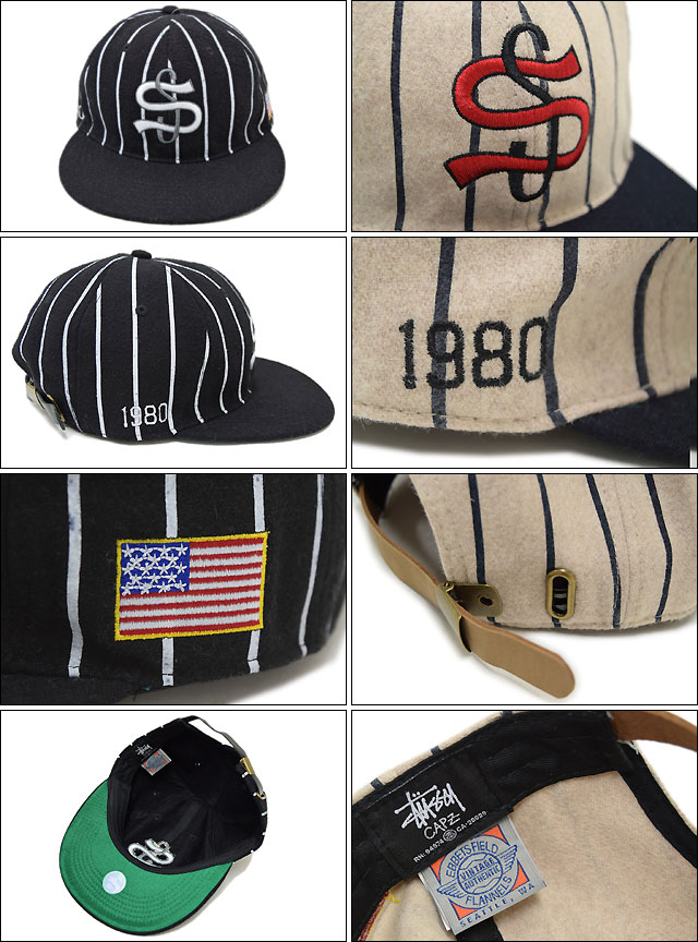 Cap collaboration with Big League Cap STUSSY×EBBETS FIELD FLANNELS Stussy (stussy cap Hat Ebbets Field flannels W names men's and men's bousi 131362 Stussy stussy Stussy Steacy) ice filed icefield