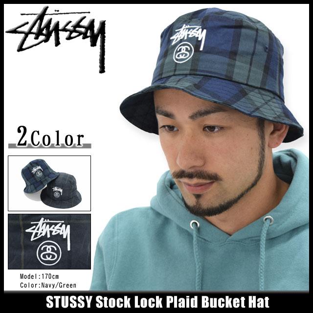Stussy STUSSY bucket Hat Stock Lock Plaid Bucket Hat (men s stussyhat men s  Stussy 132705 Steacy) ice filed icefield a63ee0b20d1
