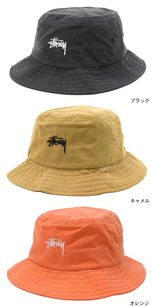 ステューシーSTUSSYバケットハットStockBucketHat帽子(stussyhatメンズ・男性用132885USAモデル正規品 e72e4a1babf8