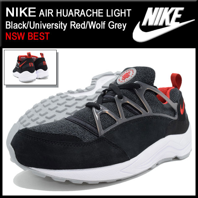 the latest d8c01 46ab2 Nike NIKE sneakers mens men s air halti Lite Black University Red Wolf Grey  Limited Edition (nike AIR HUARACHE LIGHT NSW BEST SNEAKER MENS-shoes shoes  SHOES ...