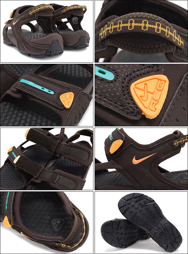 16ffe973dcf ... Nike NIKE Sandals mens men's Santiam 4 Baroque Brown/Atomic Mango/Turbo  Green/