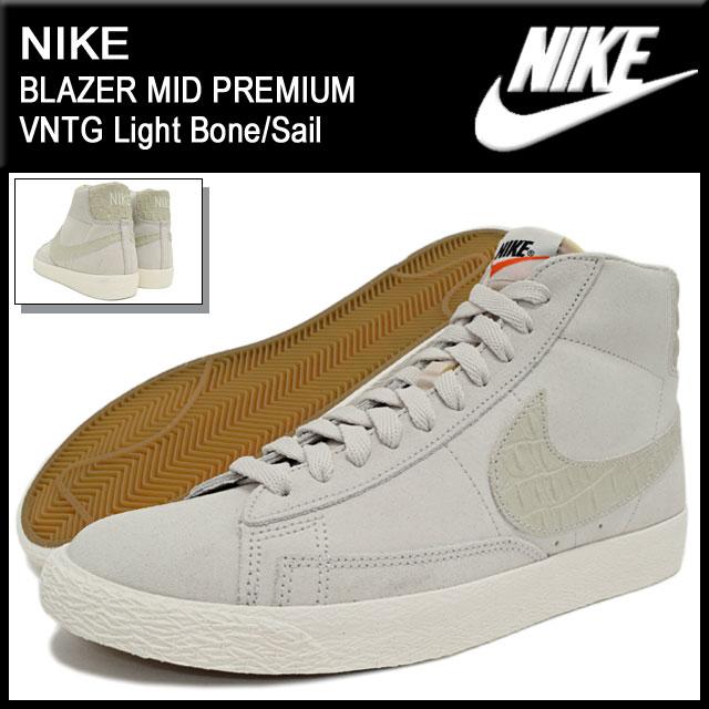 promo code 424ae 46cc2 ... Nike NIKE sneakers mens men s Blazer mid premium vintage Light Bone Sail  (nike NIKE ...