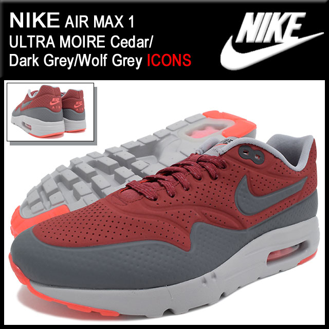 arrives a4e77 a60d9 Nike NIKE sneakers Air Max 1 ultra moire Gym Red Team Red Univarsity Red  limited edition men s (men s) (nike AIR MAX 1 ULTRA MOIRE ICONS Sneaker  sneaker ...