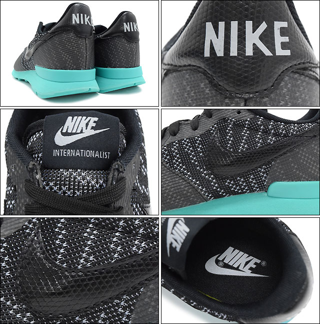 new style 3a3c3 a858d Nike NIKE sneakers Womens ladies Womens internationalist Jacquard  BlackWolf GreyLight Retro limited (nike WMNS INTERNATIONALIST KJCRD  Limited WOMENS ...