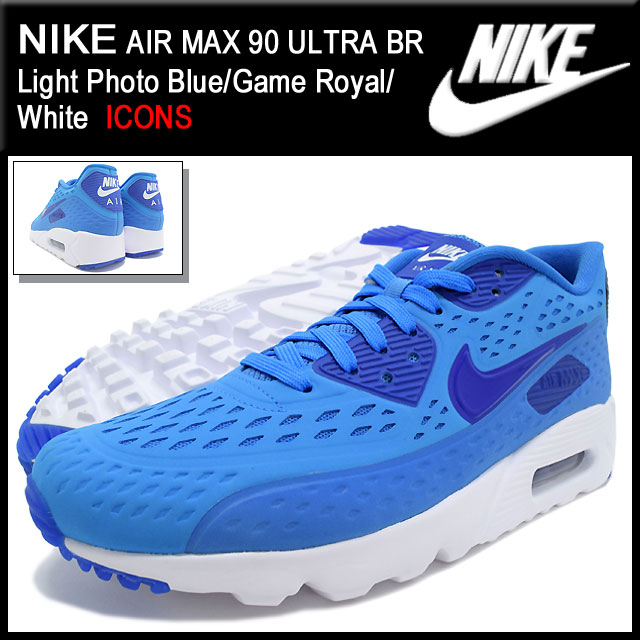 d9ad509347 Nike NIKE sneakers mens men s Air Max 90 ultra BR Light Photo Blue Game  Royal White limited edition nike AIR MAX 90 ULTRA BR ICONS Blue Blue SNEAKER  ...