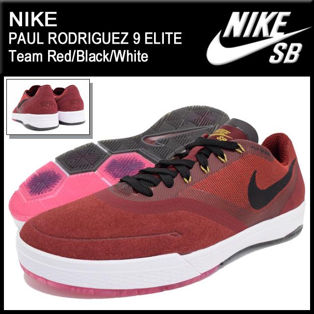 huge selection of aa32b 8bbc7 Nike NIKE sneakers mens men s Paul Rodriguez 9 elite Team Red Black White SB  (nike PAUL RODRIGUEZ 9 ELITE SB Red Red SNEAKER MENS-shoes shoes SHOES ...