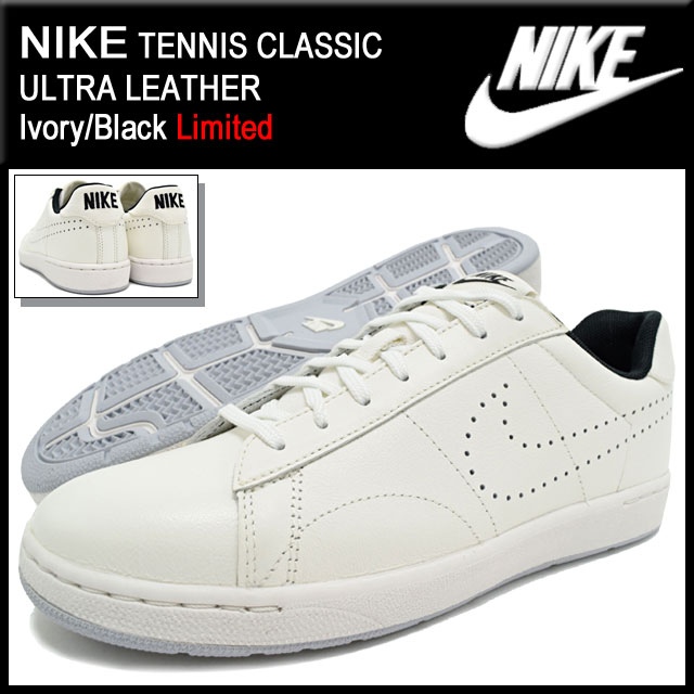 3e151d05fe351 Nike NIKE sneakers mens men s tennis classic ultra leather Ivory Black  limited edition nike TENNIS CLASSIC ULTRA LEATHER Limited white white  SNEAKER ...