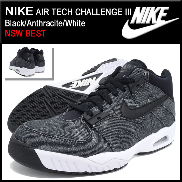 Nike NIKE sneakers mens men s air tech challenge 3 Black Anthracite White  limited (nike AIR TECH CHALLENGE III NSW BEST Black Black SNEAKER MENS-shoes  shoes ... 508ce6f8a236
