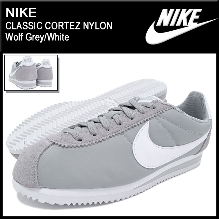 cheap for discount 53758 36bd3 Nike NIKE sneaker classic Cortez nylon Wolf Grey/White limited edition  men's (men's) (nike CLASSIC CORTEZ NYLON Limited Sneaker MENS-shoes shoes  SHOES ...