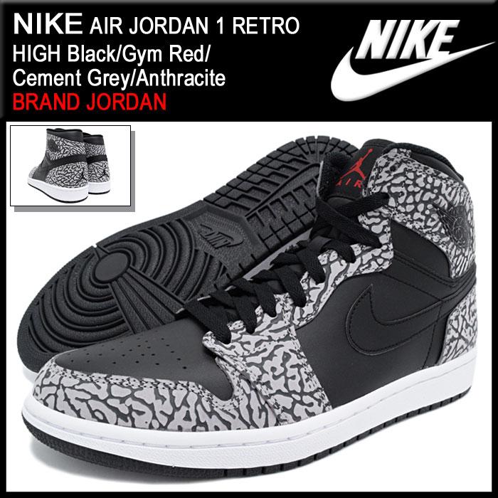 fcd7dc984bfd34 Nike NIKE sneakers mens men s Air Jordan 1 retro high (nike AIR JORDAN 1  RETRO HIGH BRAND JORDAN Black Black SNEAKER MENS-shoes shoes SHOES 839115- 013) ...