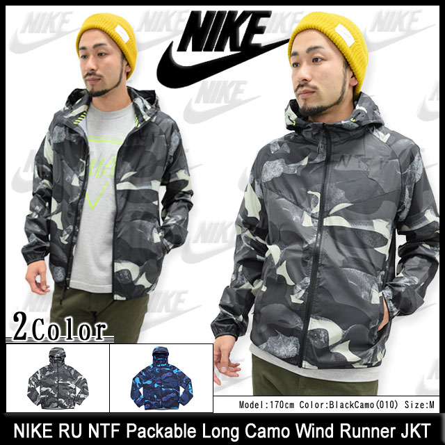 Nike NIKE jacket mens RU NTF Packable long Camo wind Runner (nike RU NTF Packable Long Camo Wind Runner JKT nylon jacket windbreaker camouflage JACKET
