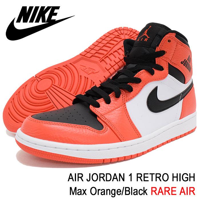best sneakers 35f35 d0543 Air Jordan 1 nostalgic high Max Orange Black rare air (nike AIR JORDAN 1  RETRO HIGH RARE AIR BRAND JORDAN SNEAKER MENS, shoes shoes SHOES  332,550-800) ice ...