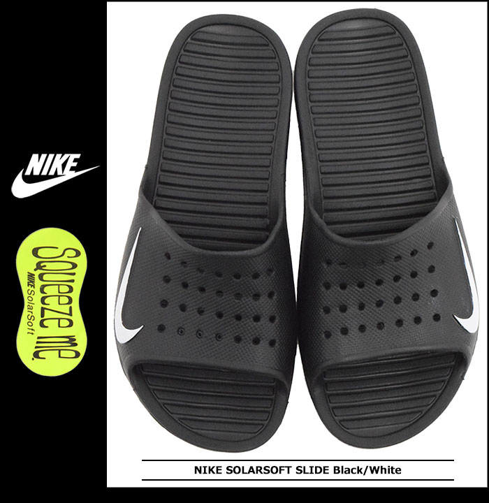 ddf6867247b Nike NIKE Sandals solar soft slide Black White men (men s) (nike SOLARSOFT  SLIDE Black White 386163-011) ice filed icefield