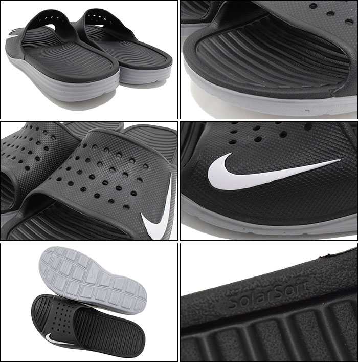 61fb3a94d4e7 ... shop nike nike sandals solar soft slide black white men mens nike  solarsoft slide black white