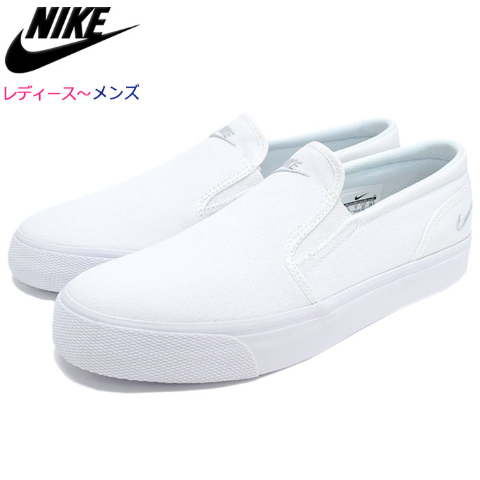 2a8ecd93c6a467 Nike NIKE sneakers Lady s   men women Toki slip canvas White Metallic  Platinum(nike WMNS TOKI SLIP CANVAS slip-ons WOMENS women white white  SNEAKER LADIES ...