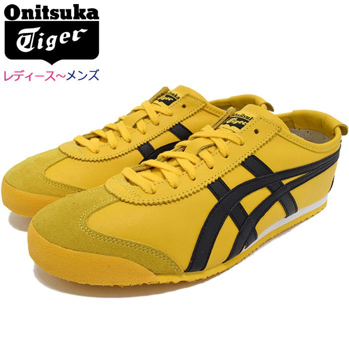 オニツカタイガー Onitsuka Tiger スニーカー レディース & メンズ メキシコ 66 Yellow/Black(Onitsuka Tiger MEXICO 66 イエロー 黄 SNEAKER LADIES MENS・靴 シューズ SHOES DL408-0490)