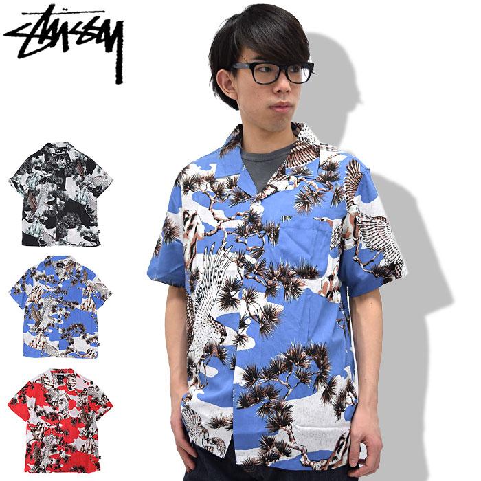 ステューシー STUSSY シャツ 半袖 メンズ Falcon(stussy shirt アロハシャツ カジュアルシャツ トップス メンズ・男性用 111915 USAモデル 正規 品 ストゥーシー スチューシー)