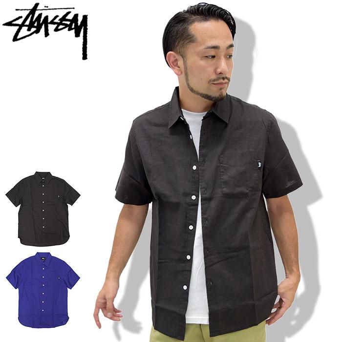 ステューシー STUSSY シャツ 半袖 メンズ 17SU Classic Linen(stussy shirt カジュアルシャツ トップス メンズ・男性用 111926 USAモデル 正規 品 ストゥーシー スチューシー)