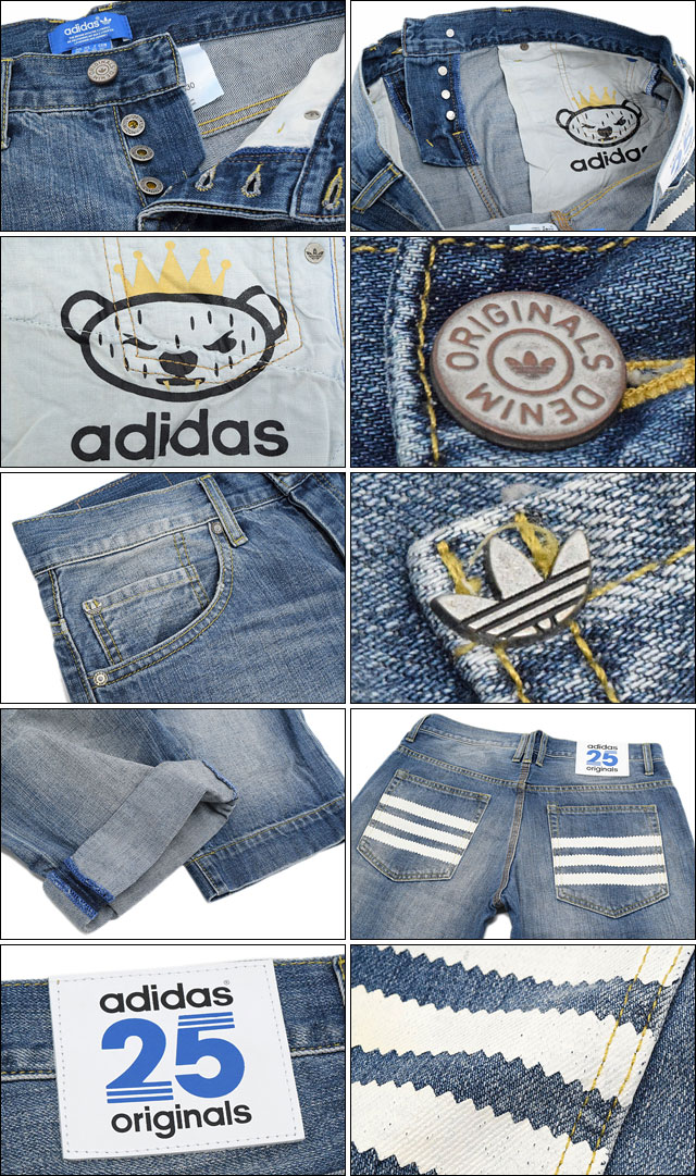 阿迪达斯原始物×NIGO adidas Originals by NIGO半裤子人25粗斜纹布协作原始物(adidas×NIGO 25 Denim Short nigo W姓名Originals短裤短裤她面包底S24529)ice filed icefield