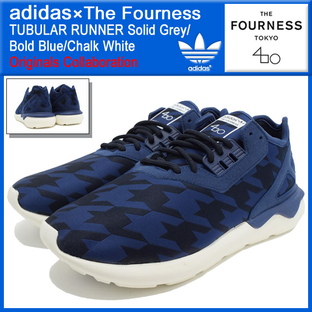 separation shoes 6e953 49944 Adidas originals x The Fourness adidas Originals by The Fourness sneakers  mens men s tubular runner-White Solid Grey Bold Blue Chalk collaboration ...