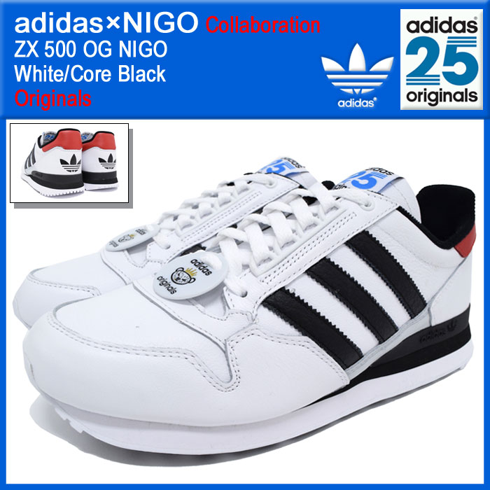 0885abfcb6494 Adidas originals x originals of NIGO adidas Originals by NIGO sneakers mens  men s ZX 500 OG Niger White Core Black collaboration (adidas×NIGO ZX 500 OG  NIGO ...