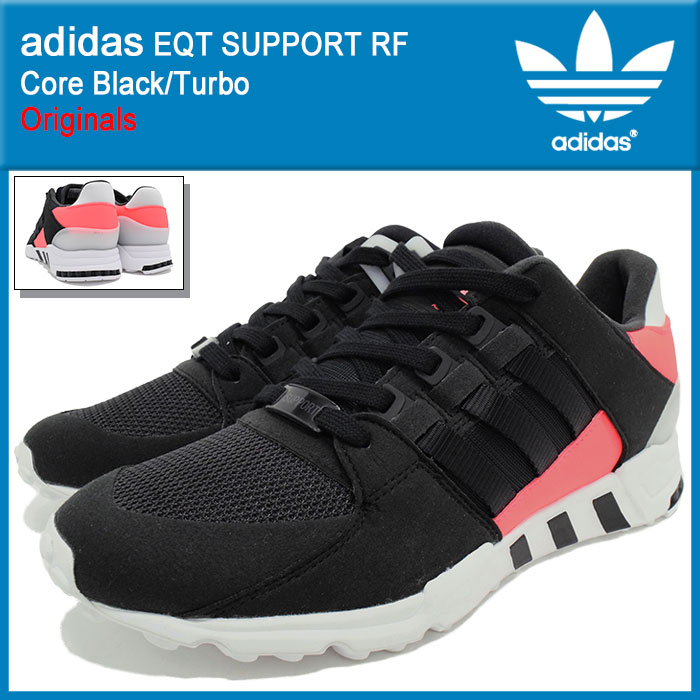 アディダス adidas スニーカー メンズ 男性用 エキップメント サポート RF Core Black/Turbo オリジナルス(adidas EQT SUPPORT RF Originals EQUIPMENT ランニングシューズ ブラック 黒 靴 シューズ SHOES BB1319)