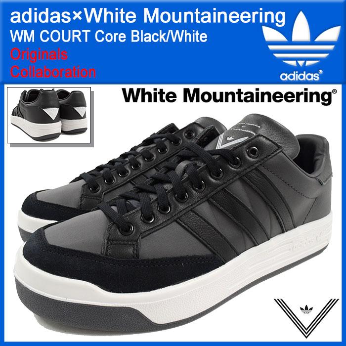 アディダス オリジナルス×White Mountaineering adidas Originals スニーカー メンズ 男性用 WM コート Core Black/White コラボ(WM COURT ホワイト マウンテニアリング ブラック 黒 靴 シューズ SHOES S81912)