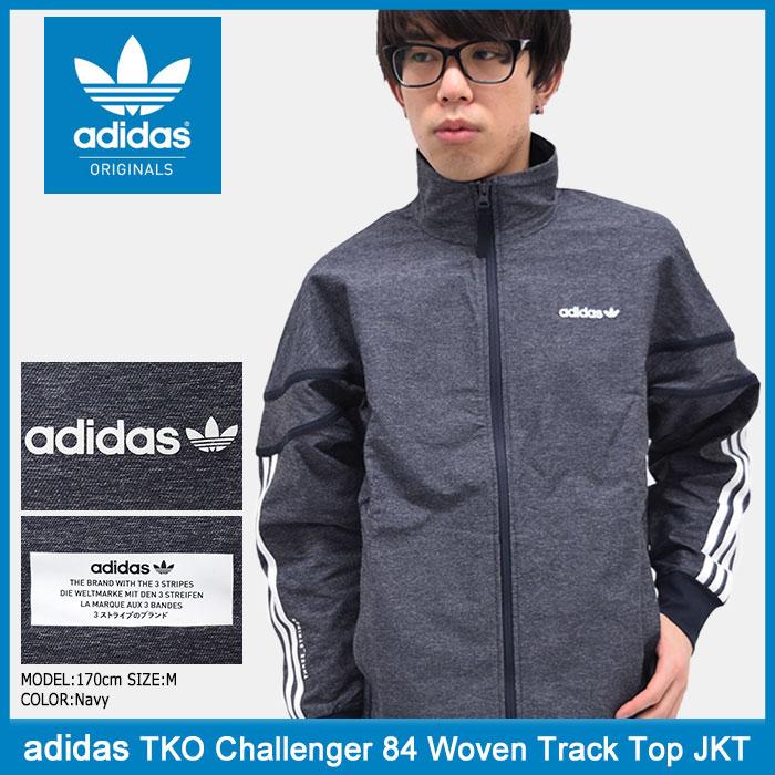 アディダス adidas ジャケット メンズ TKO チャレンジャー 84 ウーブン トラック トップ オリジナルス(adidas TKO Challenger 84 Woven Track Top Originals トラックジャケット JACKET アウター 男性用 BK2222)