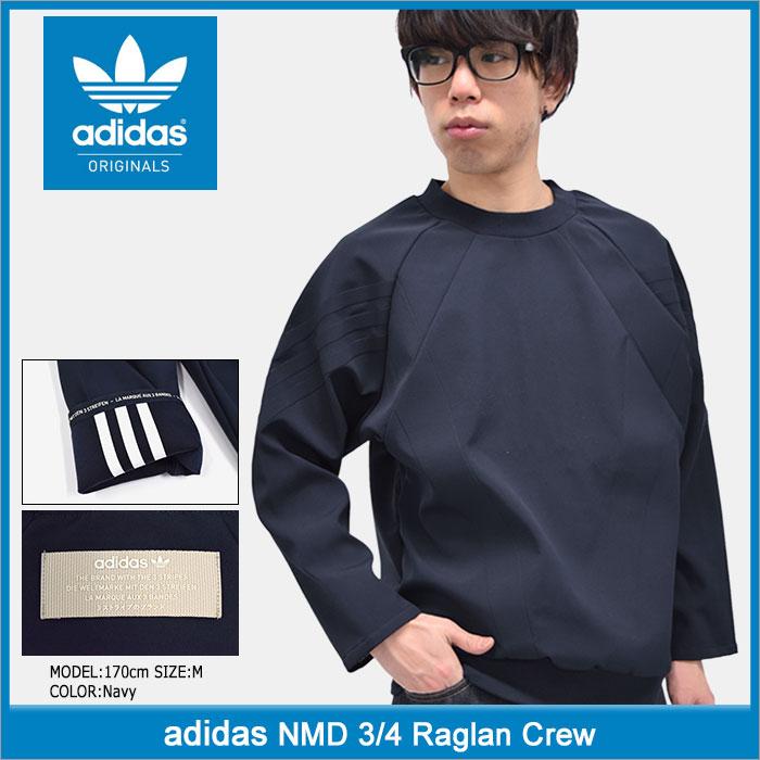 アディダス adidas カットソー 七分袖 メンズ NMD ラグラン クルー オリジナルス(adidas NMD 3/4 Raglan Crew Originals トップス 7分袖 メンズ 男性用 BK2211)