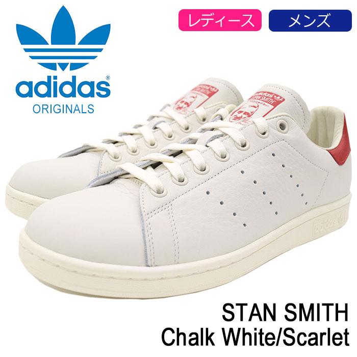 アディダス adidas White/Scarlet スニーカー レディース & MENS・靴 メンズ スタンスミス Chalk SHOES White/Scarlet オリジナルス(adidas STAN SMITH Originals オフホワイト ホワイト 白/赤 SNEAKER LADIES MENS・靴 シューズ SHOES B37898), アクセサリーショップfarice:fce611ed --- sayselfiee.com