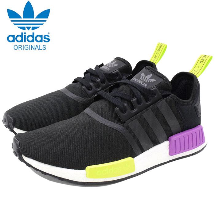 Nomad R1 Core BlackCore BlackShock Purple originals for the Adidas adidas sneakers men man (adidas NMD R1 Limited Originals NMD_R1 N M D black black