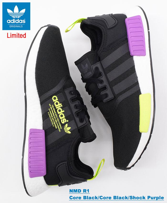 NMD R1 Sneakers basse core blackcore blackshock purple