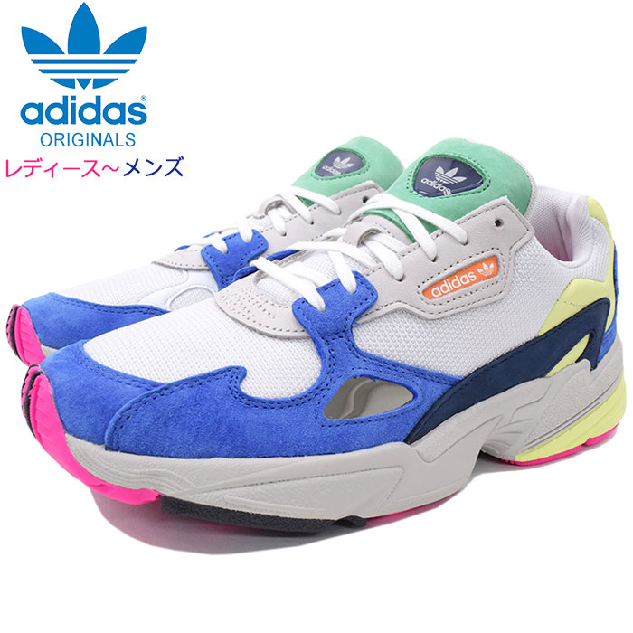Super sale holding! Adidas adidas sneakers Lady's & men women falcon Running WhiteRunning WhiteBlue originals (adidas WOMENS FALCON Originals