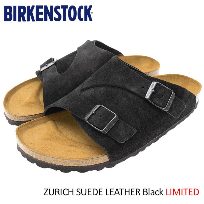 ビルケンシュトック BIRKENSTOCK サンダル メンズ 男性用 チューリッヒ スエード レザー Black 限定(birkenstock ZURICH SUEDE LEATHER 幅狭 ナロー ブラック 黒 SANDAL MENS・靴 シューズ SHOES GC050493)