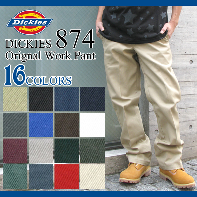Dickies Dickies 874 Chino work pants length 32 men (DICKIES dickies 874 Dickies 874, Shii was key without Work Pant デッキーズ Chino pants bottoms long pants bottom L32) ice filed icefield