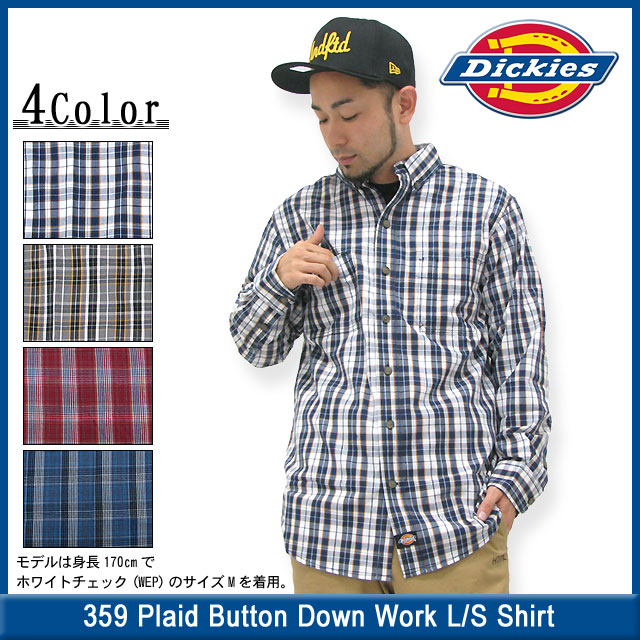 d6d4f5dc77b ... (DICKIES dickies wl359 Plaid Button falling Work L S Shirt  デッキーズボタンダウンシャツ ...