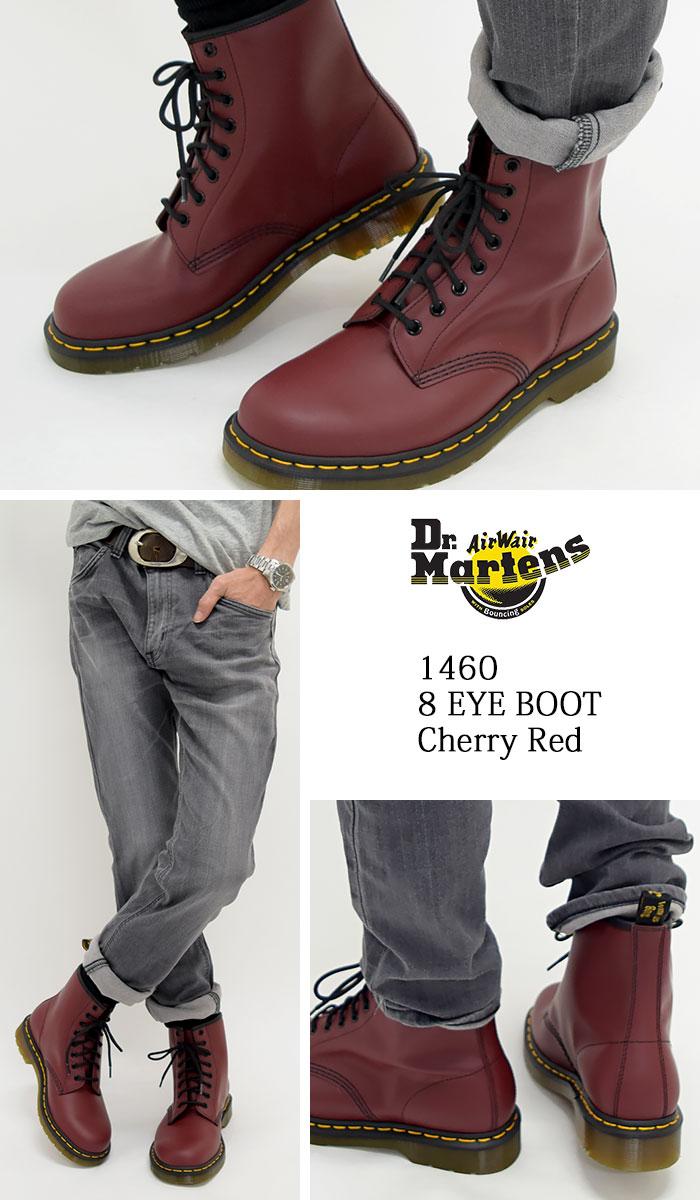 ff448e112f24e ... 1460 8 8 1460 8 doctor Martin Dr.Martens eye boots cherry red men ...