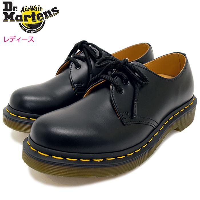 ドクターマーチン Dr.Martens ブーツ 3ホール レディース 女性用 ウィメンズ 1461 3アイ ギブソン シューズ ブラック(DR.MARTENS WOMENS 1461 3 EYE GIBSON SHOE Black ドクター マーチン BOOTS ドクター・マーチン マーティン ワーク ブーツ R11837002)