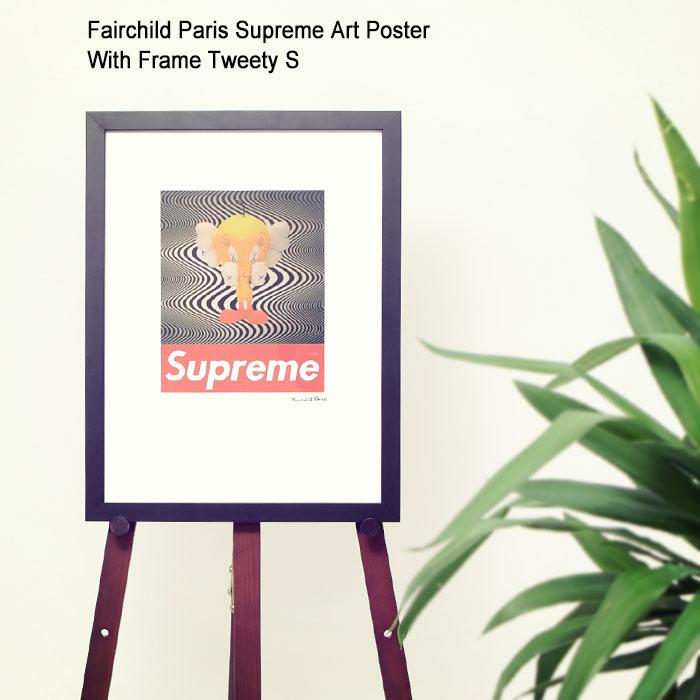 フェアチャイルド パリ Fairchild Paris トゥイティー S ポスター シュプリーム アート ポスター ウィズ フレーム(Fairchild Paris Supreme Art Poster With Frame Tweety S Looney Tunes ルーニー・テューンズ インテリア SUP12-12)[I便]