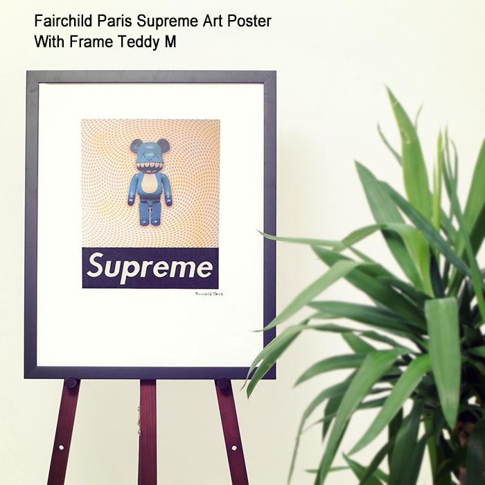 フェアチャイルド パリ Fairchild Paris テディ M ポスター シュプリーム アート ポスター ウィズ フレーム(Fairchild Paris Supreme Art Poster With Frame Teddy M KAWS カウズ Toy Blue Bear インテリア SUP8-16)[I便]