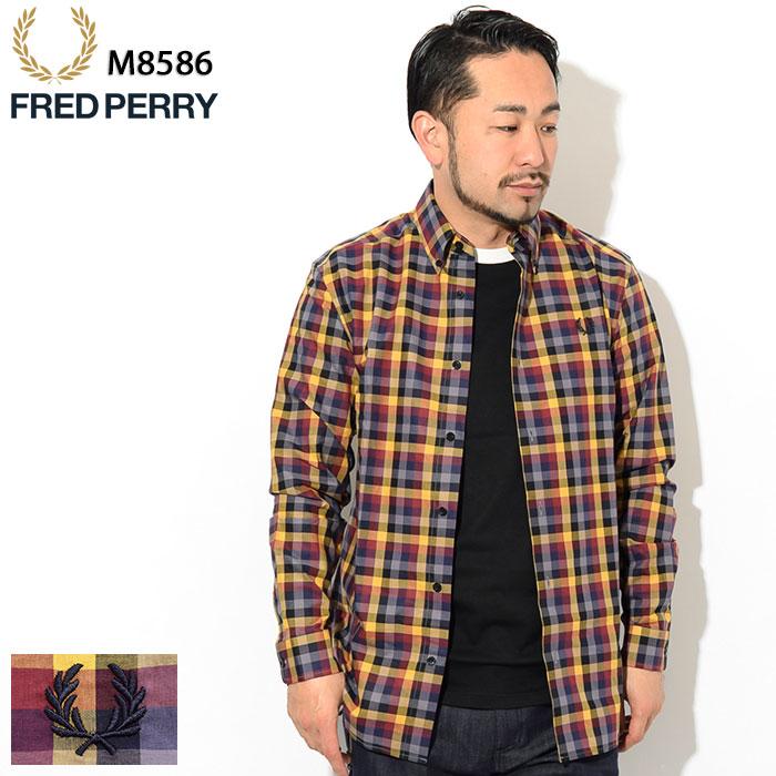 20周年セール!フレッドペリー FRED PERRY シャツ 長袖 メンズ 5 カラー ギンガム ( FREDPERRY M8586 5 Colour Gingham L/S Shirt ボタンダウン ギンガムチェック カジュアルシャツ トップス フレッド ペリー フレッド・ペリー )