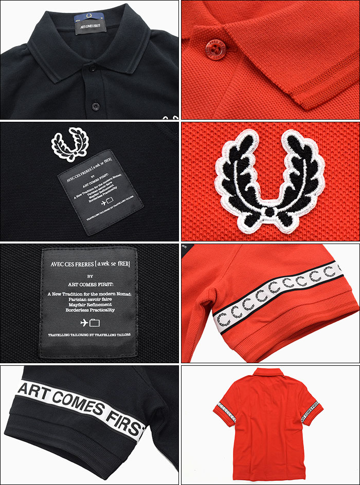 Red NEW MENS Fred Perry Art Comes First Polo Shirt